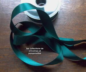 Bien Ruban De Satin Vert Sapin Largeur 2.5 Cm Vendu Par Multiples De 2 M