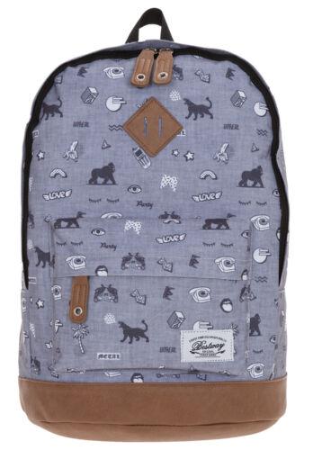 Rucksack BESTWAY Rocky MOUNTAIN Vintage Schulrucksack Daypack MIX GREY 2800 f