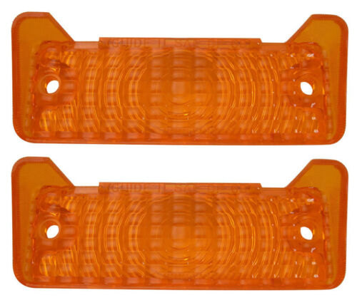 1968 1969 Nova Chevy II Parking Light Lens with Gaskets Pair Amber