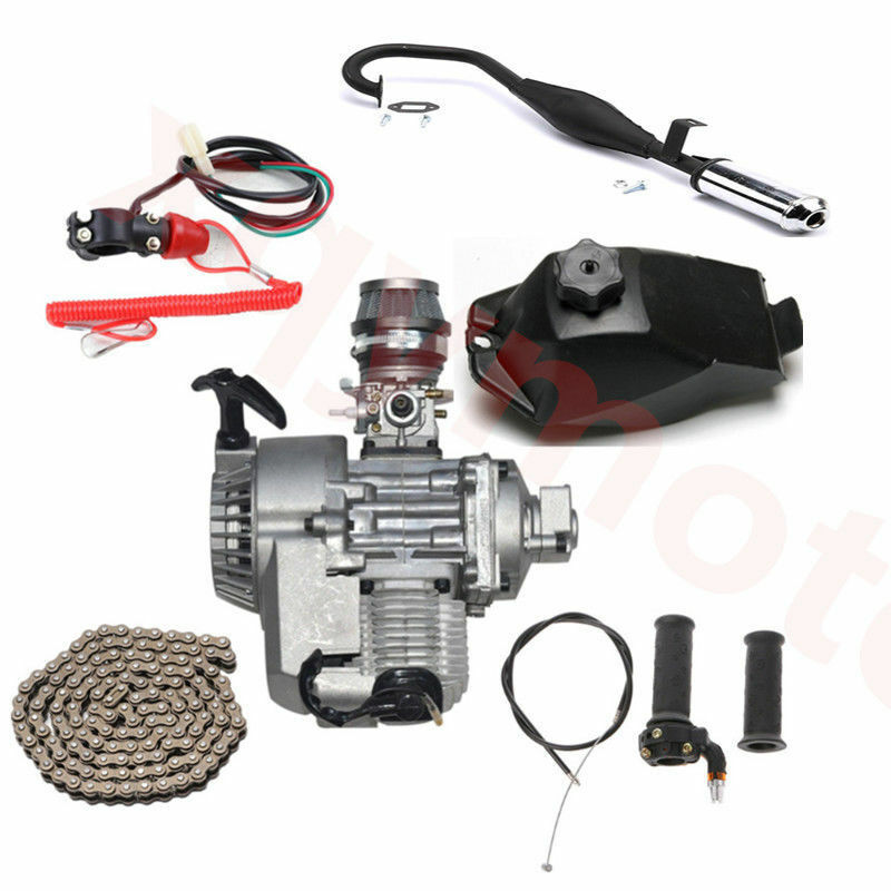 47cc 49cc Motor Engine Muffler 2 Stroke Puller all Parts ATV Mini Quads Go Kart
