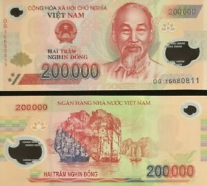 1,000,000 VIETNAMESE DONG CURRENCY VND 2 - 500,000 Banknotes
