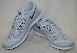 Nike Men s Flex 2017 RN Platinum Black Grey Running Shoes - Assorted ... 2f3bdb01043b9
