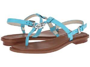 8665e05678b9cf Image is loading New-Michael-Kors-Sondra-Thong-Sandals-aquamarine-blue-