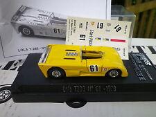 SOLIDO 1/43em LOLA T280 n° 61 Le mans 73 état neuf en boite + planche stikers.
