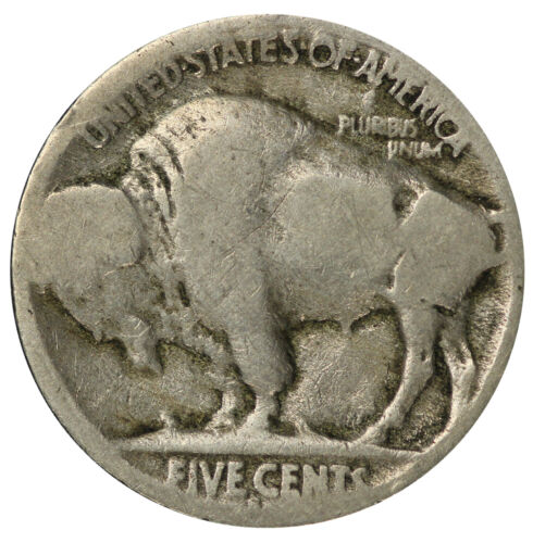 1916 S Buffalo Nickel 5c Cent Almost Good AG Condition