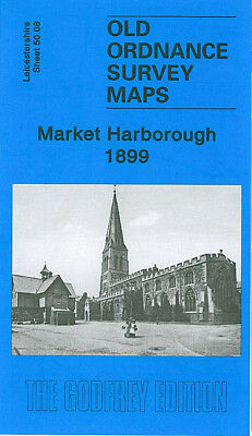 OLD ORDNANCE SURVEY MAP MARKET HARBOROUGH 1899 NORTHAMPTON ROAD LITTLE BOWDEN