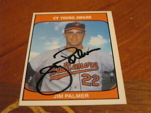 Details About Jim Palmer Autographed Baseball Card Jsa Auction Cert