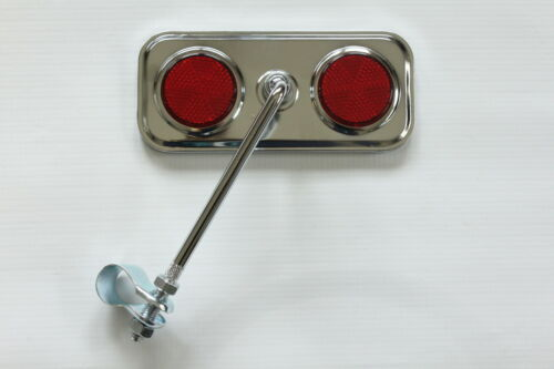 BICYCLE MIRROR RED REFLECTOR 4 COMMUTERS RETRO VINTAGE LADIES MENS TOURING