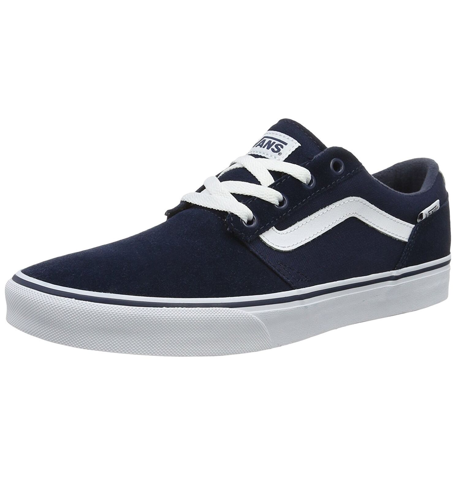 VANS Chapman Niedrig Stripe Canvas Fashion Casual Skater Schuhes Casual Fashion Trainers Suede Blau 9011d0