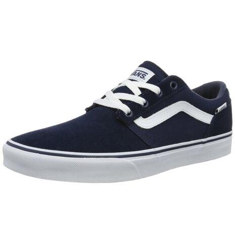 Chapman toile Vans daim en patineuses Baskets à Chaussures bleues basses rayures en de q1wwHZ6Wp