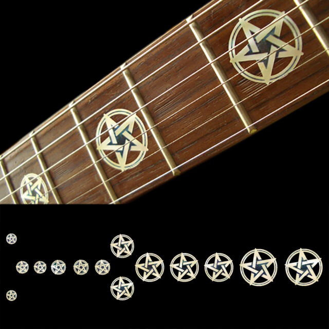 fretboard markers inlay sticker decals for guitar and bass pentagram