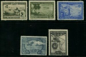 Spain-1930-Sevilla-034-Pro-Union-Iberoamericana-034-Partial-Set-5-Stamps-UNC-NH