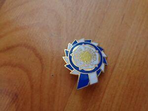 Vintage 80s Leeds United Crest Rosette Enamel Football Pin Badge Ebay