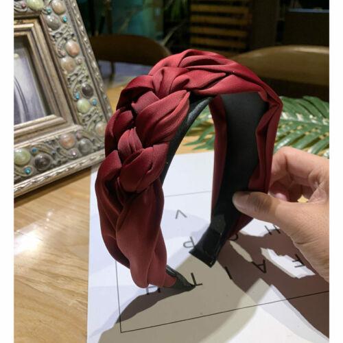 Womens Headband Alice Band Top Knot Fashion plain Headband Twist Hairband Gift