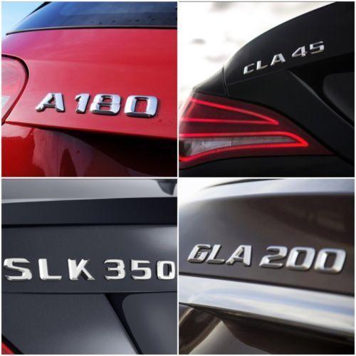 Gla CLS 1x Originale Posteriore Distintivo Stivale Emblema per Mercedes a Cla