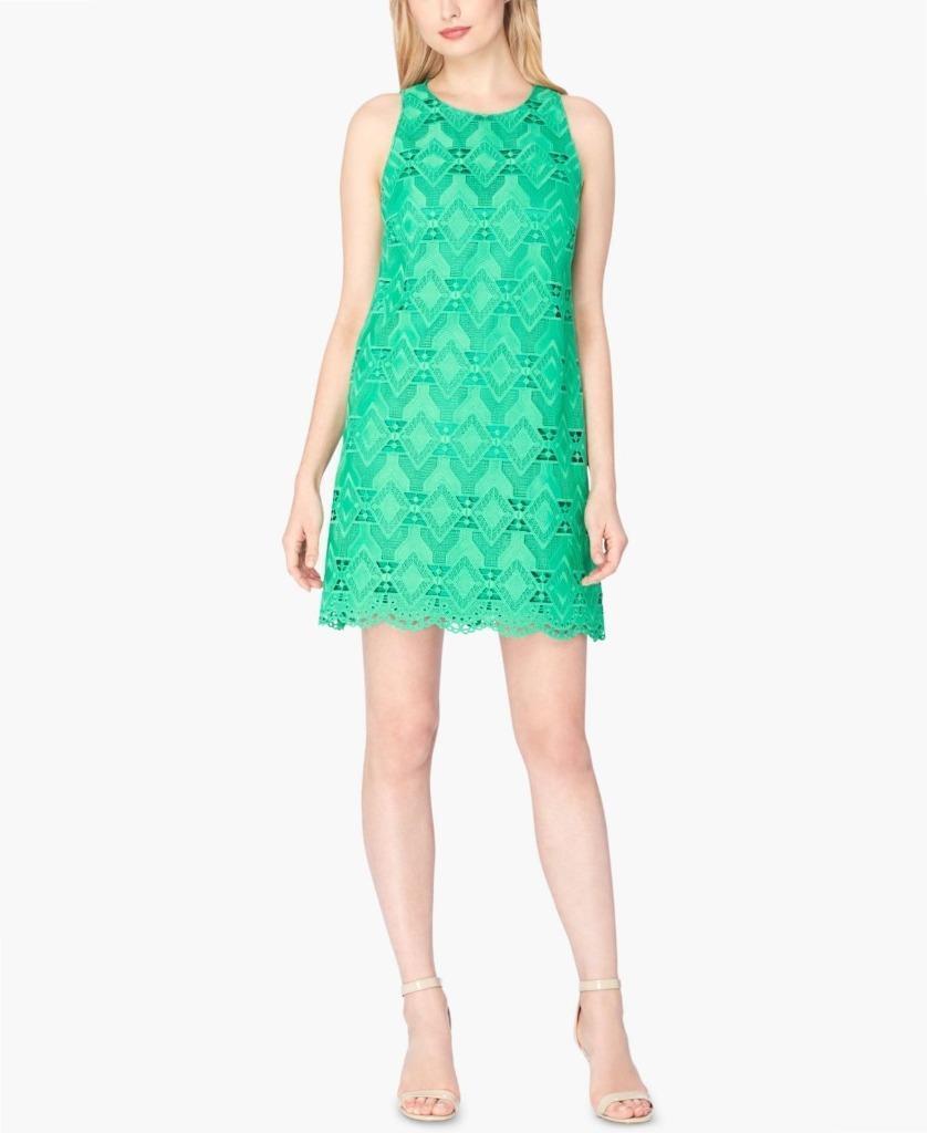 Tahari ASL Woherren Grün Lace Dress Größe 6 NWT