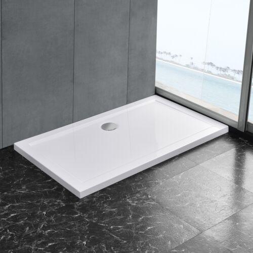 neu.haus ® Duschwanne 80x120 cm reinweiß Duschtasse rechteckig extra flach Bad