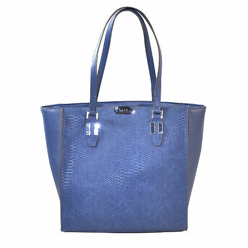 17b07f3f7f4d3 Authentic Nicole Miller Gabby Tote Bag Purse Blue Dusk for sale online