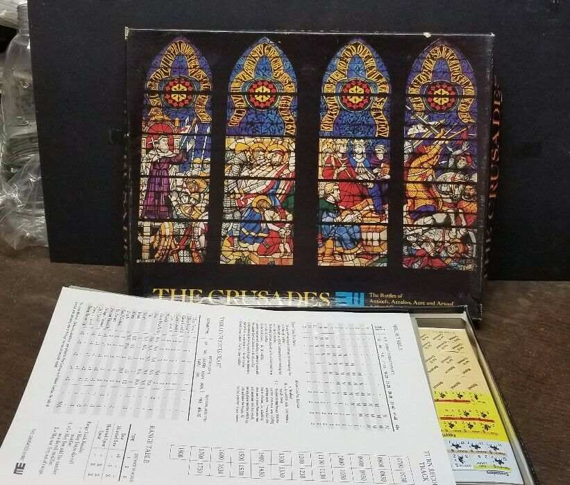 The Crusades Quad War Board Games - 1992 - Antioch  Ascalon  Acre  Arsouf   VG