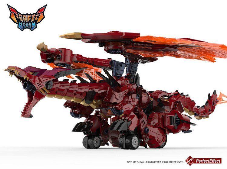 Transformers PerfectEffect PEDX09 Mega Doragon Megatron 10'' rosso Dragon cifra