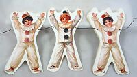Victorian Clown Paper Garland 10 Feet Long Vintage-inspired Birthday Party Decor