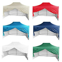Quictent 10x15'ez Pop Up Canopy Gazebo Party Tent Pyramid-roof + Sidewalls