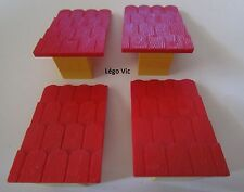Lego Fabuland 787 x 4 Tuile Roof Support with Red rouge Roof Slope jaune yellow