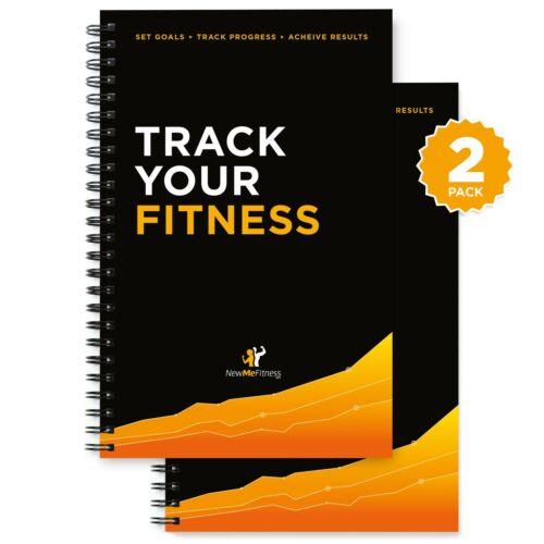 Workout Log Book /& Fitness Journal 25-Week Designed  2PK