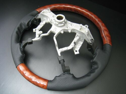 Toyota LAND CRUISER FJ200 FJ-200 2008-13 Burl wood leather steering wheel-SPORTS