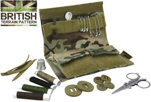 Kombat Army Military Combat Repair S95 Compact Sewing Kit Travel Set BTP Pouch