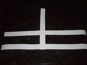 1-034-Adjustable-White-5-Point-Harness-Straps-For-Hockey-Goalie-Mask-New-tk