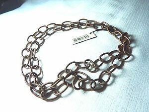 Dyrberg-Kern-90-cm-Antique-Finish-Copper-Base-Metal-Chain