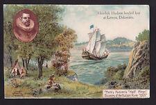 1909 half moon ship on river Hudson-Fulton celebration New York postcard