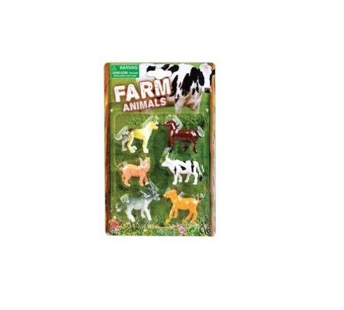 Confezione DA 6 ANIMALI FATTORIA-ogni animale MISURE CIRCA 5 CM-GIOCATTOLI FATTORIA hl58