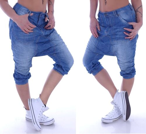 Boyfriend Jeans Capri Baggy Harem Pantalon Pantalon Bouffant Sarouel 3//4 Pluderhose m29