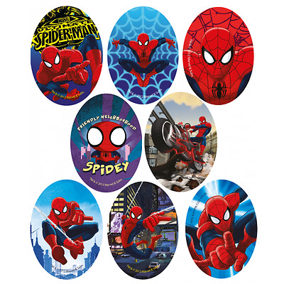 Spiderman 11cm x 8cm Logo Sew Ironed On Badge Embroidery Applique Patch