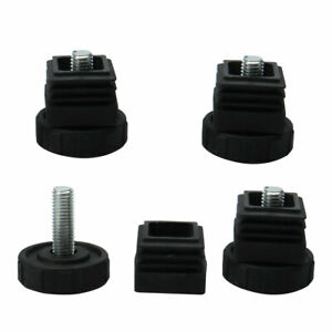 uxcell Leveling Feet 30 x 30mm Square Tube Inserts Kit Furniture Glide Adjustable Leveler for Table Sofa Chair Leg 4 Sets