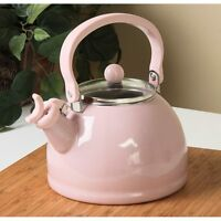 Calypso Basics Pink Whistling Tea Kettle Home Kitchenware Cookware Teapots