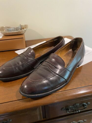 Alden burgandy strap loafers, 13 A/AAA