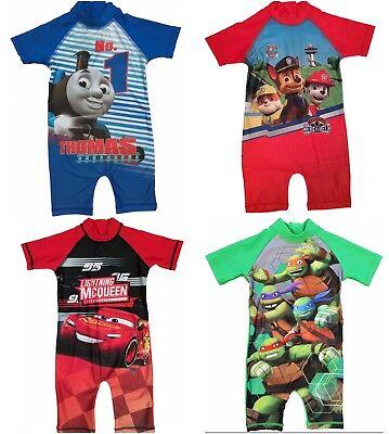 Boys Kids Mutant Nija TurtlesTMNT Swimming Surf Sun Suit Swim Character Costume