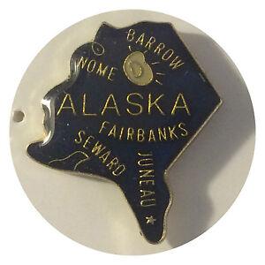 Brand New Lapel Hat Pin Alaska Brass Tac Back Biker
