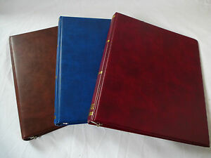 STANLEY GIBBONS UNIVERSAL LUXURY RING ALBUMS, VARIOUS STYLES/COLOURS AVAILABLE
