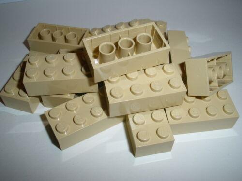 + + LEGO   15  beige  Bausteine  2x4  Noppen   NEU