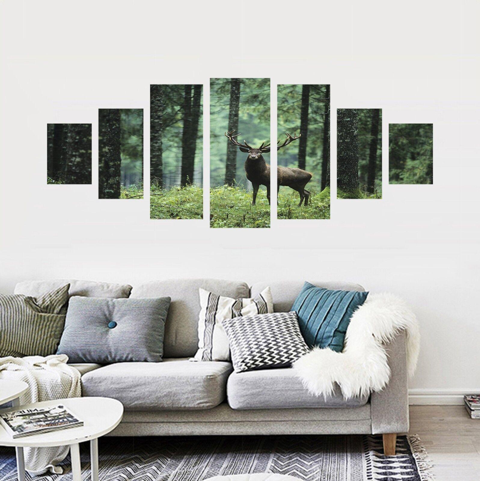 3D Valley Deer Animal 126 Unframed Print Wall Paper Deco Indoor AJ Summer