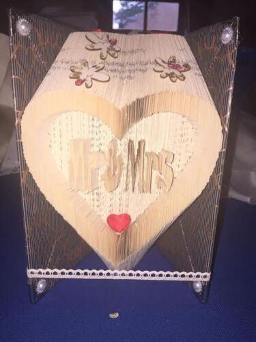 549 páginas #2062 Mr/&Mrs en un patrón Plegable Libro de combinación de corazón