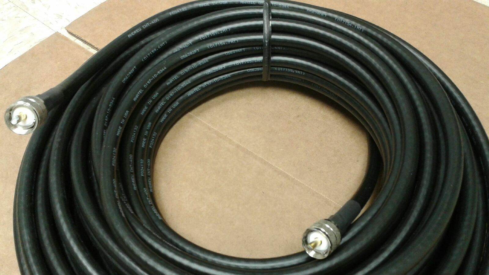 US MADE   LMR-400  200 FT  UHF/UHF male  PL259 COAX CABLE CB,HAM,SCANNER . Available Now for 210.00