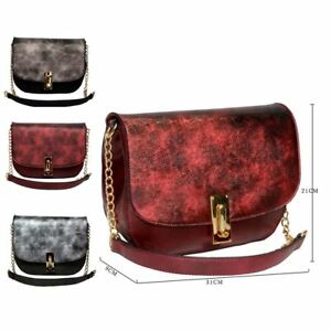 d9525a02fc New Womens Faux Leather Cross Body Bag Designer Style Shoulder Bag ...