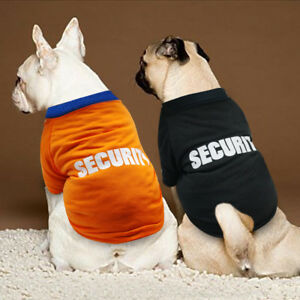 f94762d72bec Small Dog T Shirts Medium Summer Security Pet Puppy Clothes French ...