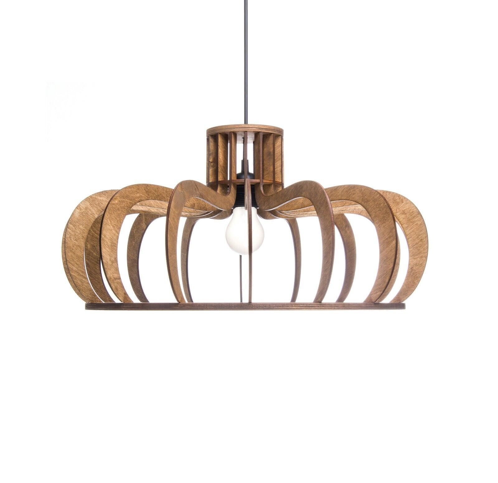 Unique pendant lamp Wood ceiling light Kitchen lighting Dining room chandelier