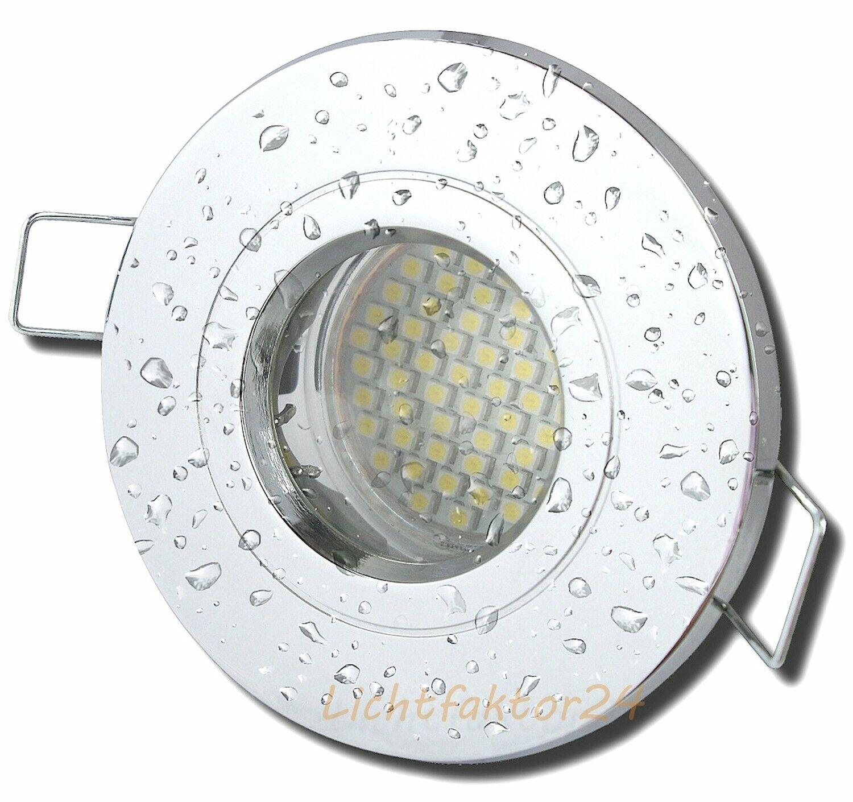 IP54 LED Einbaustrahler 230V - 5W - Rostfrei für Bad & Dusche & Innen & Aussen